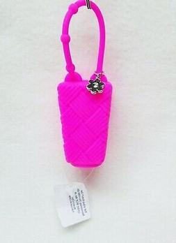 1 Bath & Body Works PINK WEAVE FLOWER Pocketbac Holder Hand