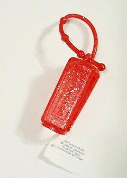 1 Bath & Body Works RED MULTI GLITTER Pocketbac Holder Hand