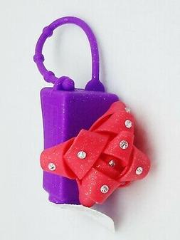 1 Bath Body Works Purple RED GEM BOW Pocketbac Holder Hand G