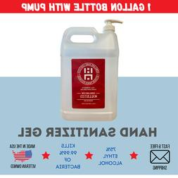 1 Gallon Gel Hand Sanitizer With Pump | 75% Alcohol | Made i