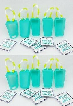 10 Bath & Body Works BLUE GLOW IN DARK Pocketbac Holder Hand