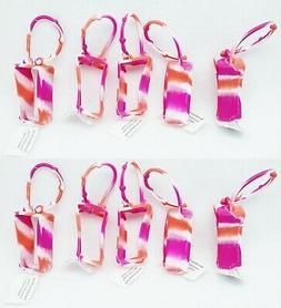 10 Bath Body Works PINK ORANGE Tie-Dye Pocketbac Holder Hand