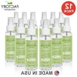 12 Pack Advanced Hand Sanitizer Spray 90ml 3 Oz 70% Alcohol