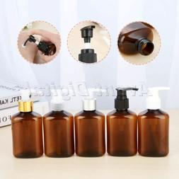 125g Brown Hand Sanitizer Shampoo Body Wash Lotion Bottle 5