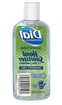 Dial Gel Hand Sanitizer Fragrance-Free with Moisturizers, Fl