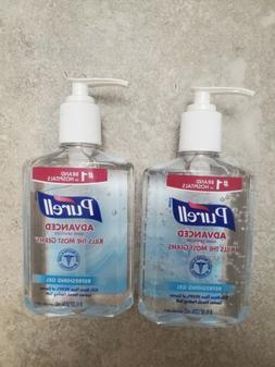 2 bottle 8oz 236ml Purell Advanced Gel Sanitizing Hands 70%
