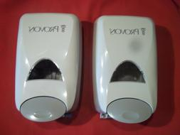 2 PROVON SOAP DISPENSER NEW IN PLASTIC COMPLETE WITH INSTRUC