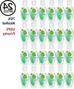 24 PACK Hand Sanitizer Gel 75% Alcohol Portable Hand Wash Sc