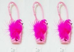 3 Bath & Body Works PINK FLAMINGO Pocketbac Holder Hand Gel