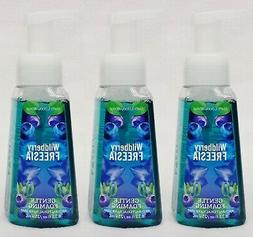 3 Bath & Body Works WILDBERRY FREESIA Antibacterial Gentle F