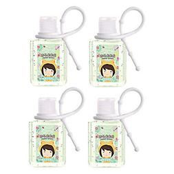 4 Pack 75% Alcohol Hand Sanitizer Gel Travel Portable No Rin