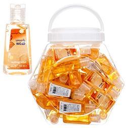 48 Mini Individual Hand Sanitizer Bottles In a Bowl Display.