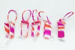 5 Bath & Body Works PINK ORANGE Tie-Dye Pocketback Holder Ha