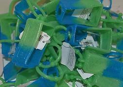 5 BATH BODY WORKS GREEN BLUE GLITTER POCKETBAC HOLDER HAND S