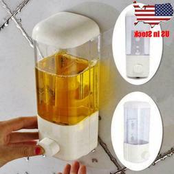 500ML Wall-mounted Dispenser Public Hands Sanitizer Soap Sha