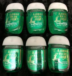 6 Bath & Body Works VANILLA BEAN NOEL Antibacterial POCKETBA