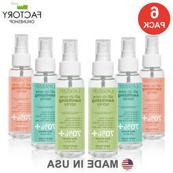 6 Pack Advanced Hand Sanitizer Spray 90ml 3 Oz 70% Alcohol K