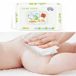 60Pcs Lid Cover Wet Wipes Baby Non-Woven Disposable No-Alcoh