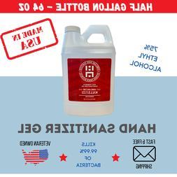 Half Gallon Gel Hand Sanitizer Bulk Refill | 75% Alcohol |