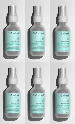 6X Santix MD 80% Ethyl Alcohol Hand Sanitizer 2 fl oz Portab