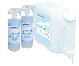 80% Ethyl Alcohol Sanitizer for Hands, 3 Gallons Total