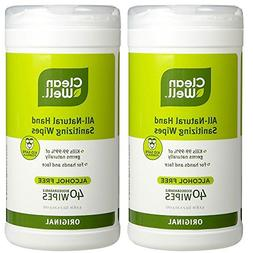 CleanWell All Natural Disinfecting Wipes with Antimicrobial