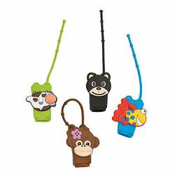 ANIMAL HAND SANITIZER HOLDERS - 6 pieces