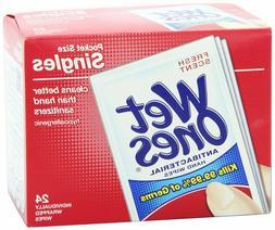 Wet Ones Antibacterial Hand Face Wipes Singles Clean Sanitiz