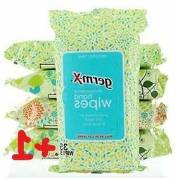 Germ-X Antibacterial Hand Wipes Designer Pack - 10 packs - 3