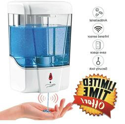 Automatic Liquid Soap Dispenser 700ML Sensor Wall Mount Sani