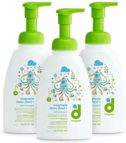 Babyganics Baby Shampoo and Body Wash, Fragrance Free, 3 Pac