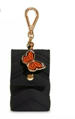 Bath & Body Works Butterfly Black Purse PocketBac Hand Sanit