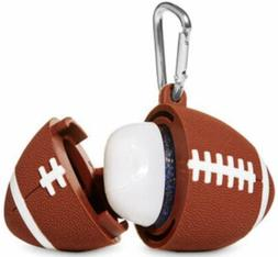 BATH & BODY WORKS FOOTBALL CASE SANITIZER HOLDER. NEW WITH T