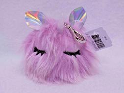 Bath & Body Works Fuzzy Unicorn  PocketBac Holder New with T
