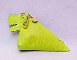 Bath & Body Works Green Dinosaur PocketBac Holder Zipper Pou
