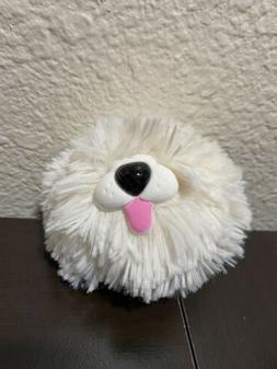 BATH & BODY WORKS WHITE FUZZY DOG SANITIZER HOLDER. NEW WITH