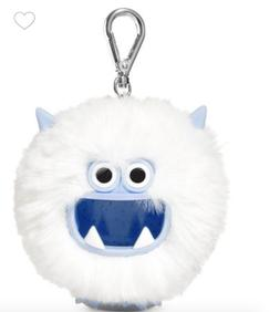Bath & Body Works YETI  Pom Fuzzy White Pocketbac Hand Sanit