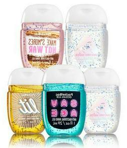 Bath Body Works 5 Pocketbac Hand Sanitizers - Mixed Scents &