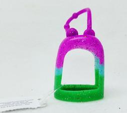Bath Body Works PURPLE & GREEN Glitter Pocketbac Holder Slee
