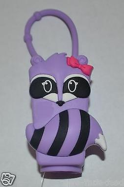 BATH BODY WORKS PURPLE GIRLY RACCOON POCKETBAC HOLDER SLEEVE