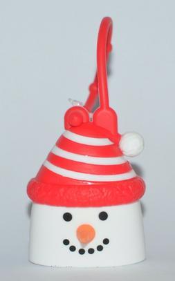 BATH BODY WORKS SNOWMAN RED HAT POCKETBAC HOLDER SLEEVE SANI