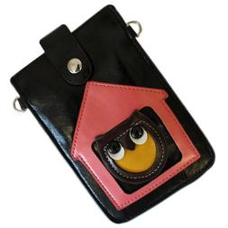 black owl design bag case purse hand