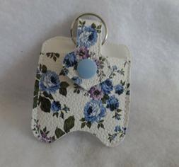 Blue Flowered Hand Sanitizer Holder Free Shipping