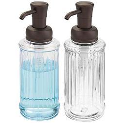 mDesign Fluted Liquid Hand Soap Dispenser Pump Bottle for Ki