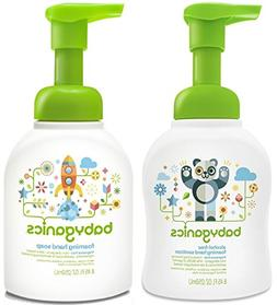 Babyganics Foam Hand Soap & Sanitizer Set, Fragrance Free
