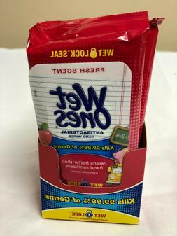 Wet Ones FRESH SCENT Antibacterial Hand Wipes 20 Packs of 20