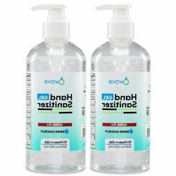 Wave Gel Hand Sanitizer, 75% Alcohol, Made in USA, 2 Pack of