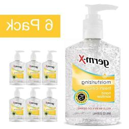 Germ-X Hand Sanitizer Gel Pump Fresh Citrus 6-Pack Moisturiz