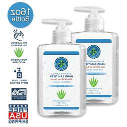 Hand Sanitizer Gel 12 OZ - 70% Alcohol w/ Aloe ✓ Free 1 OZ