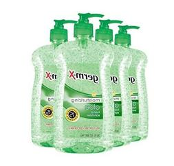 Hand Sanitizer Aloe Pump Bottle 4-Pack Antibacterial Moistur